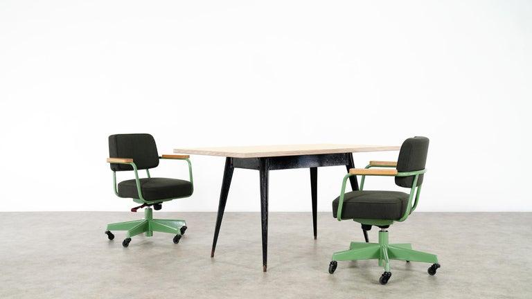 Jean Prouvé, Fauteuil Direction Pivotant 1951 Limited RAW Office Edit, Chair For Sale 1