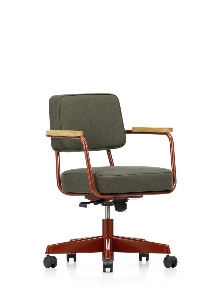 Jean Prouvé Fauteuil Direction Pivotant Office Chair by Vitra For Sale 10