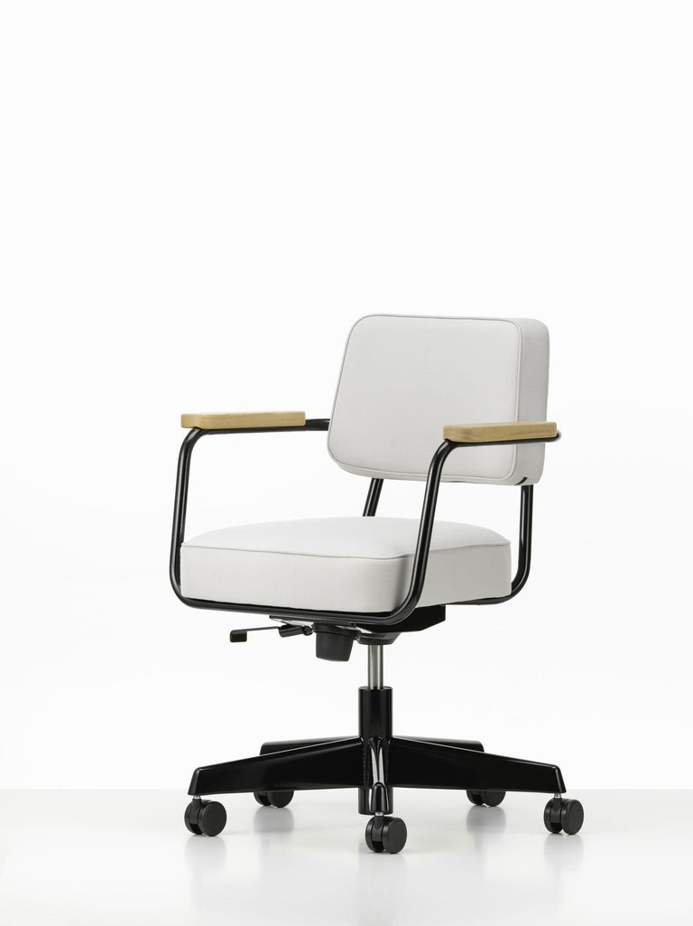 Mid-Century Modern Jean Prouvé Fauteuil Direction Pivotant Office Chair by Vitra For Sale