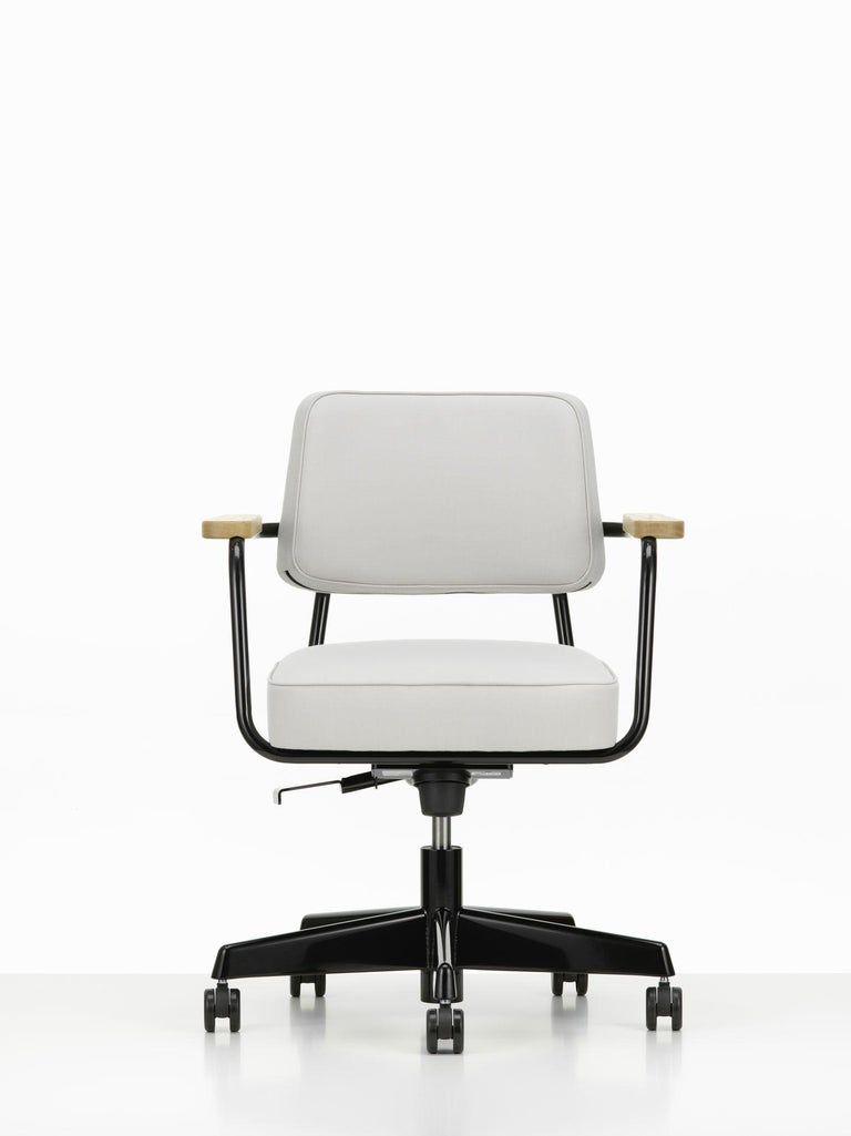 Swiss Jean Prouvé Fauteuil Direction Pivotant Office Chair by Vitra For Sale