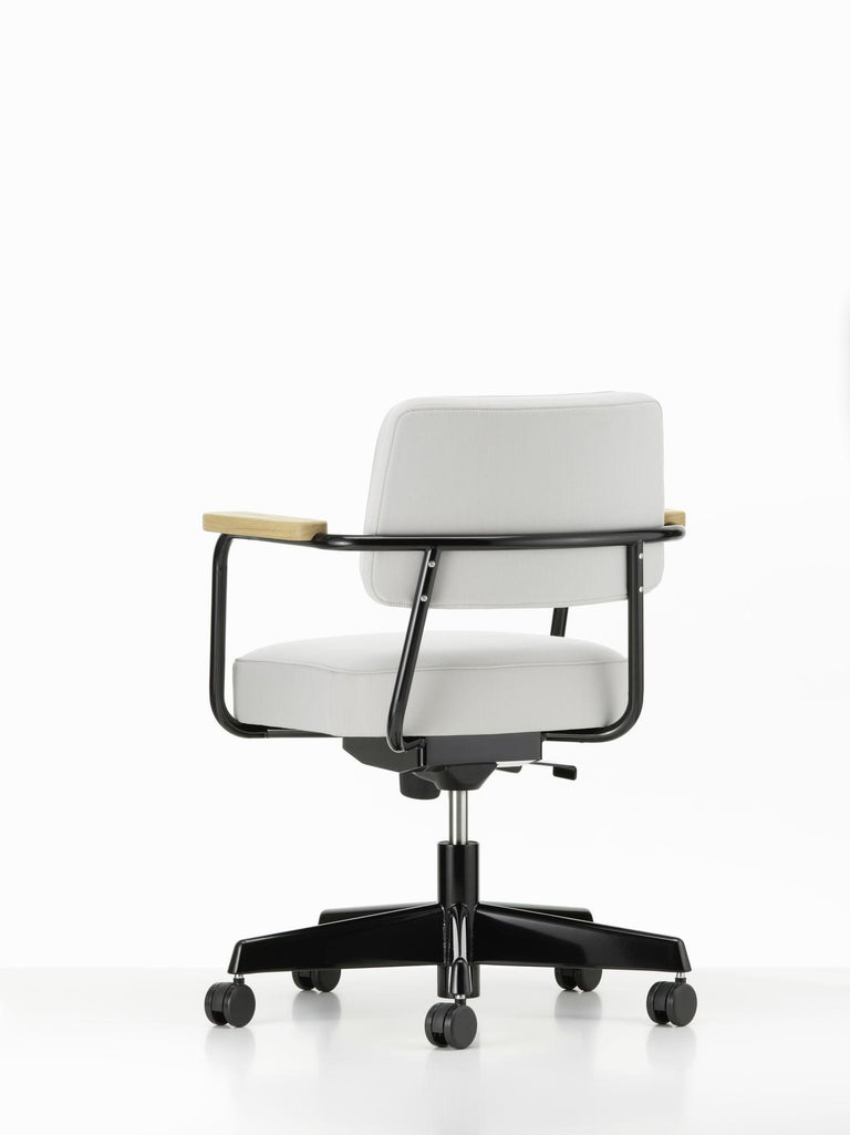 Steel Jean Prouvé Fauteuil Direction Pivotant Office Chair by Vitra For Sale