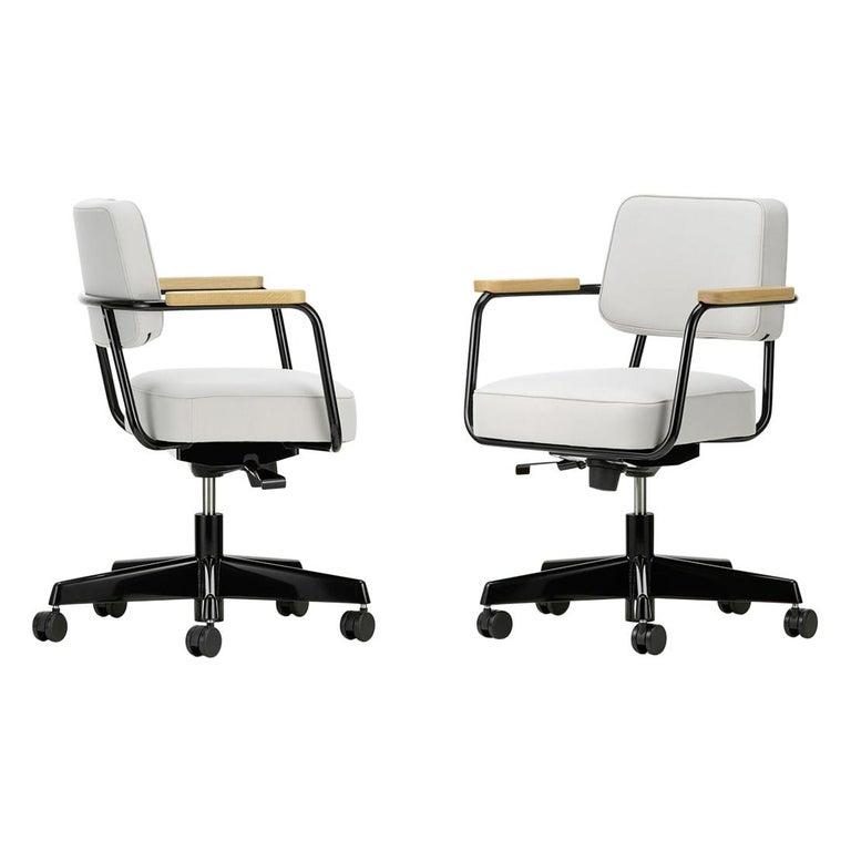 Jean Prouvé Fauteuil Direction Pivotant Office Chair by Vitra For Sale