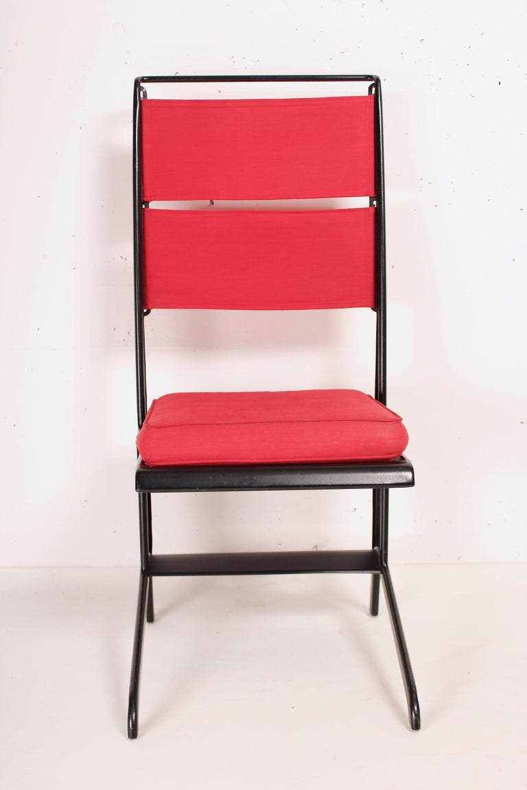 Modern Jean Prouvé Folding Chair Designed 1930, Manufactured by Tecta, 1983 For Sale