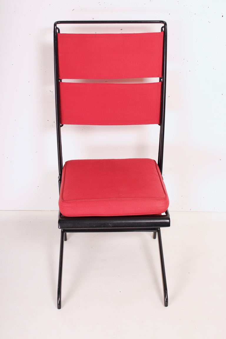 French Jean Prouvé Folding Chair Designed 1930, Manufactured by Tecta, 1983 For Sale