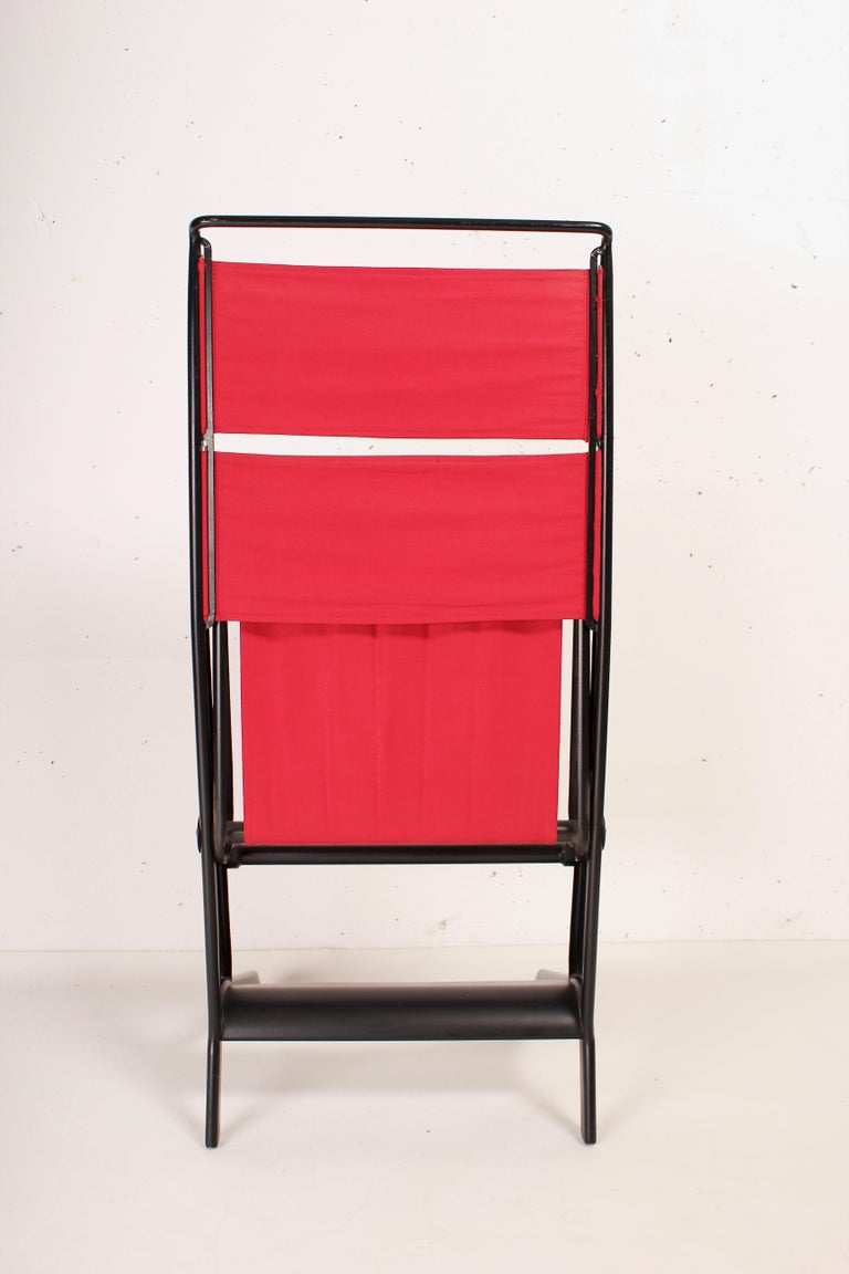 Jean Prouvé Folding Chair Designed 1930, Manufactured by Tecta, 1983 In Good Condition For Sale In Santa Gertrudis, Baleares