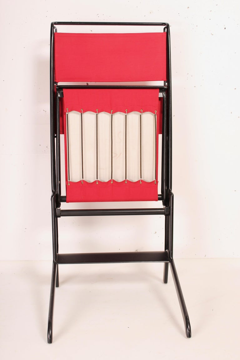 Late 20th Century Jean Prouvé Folding Chair Designed 1930, Manufactured by Tecta, 1983 For Sale