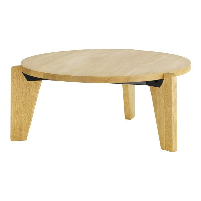 Jean Prouvé Guéridon Bas Coffee Table in Wood by Vitra
