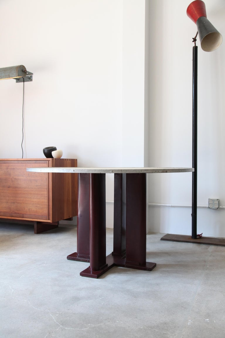Heres a early dining table by Jean Prouvé and Jules Leleu from the Martel de Janville Sanatorium, circa 1935.