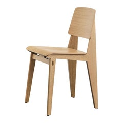 Jean Prouvé Light Oak Chaise Tout Bois Chair by Vitra