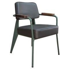 Jean Prouvé Limited Edition Leather Steering Chair by G-Star for Vitra Desk