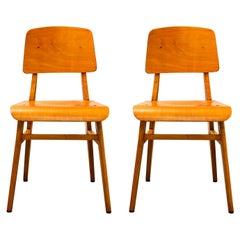 """Jean Prouvé, Pair of """"All Wood"""" Chairs, France, 1942"""