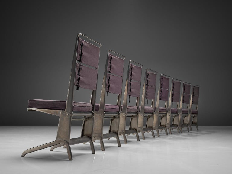 Mid-Century Modern Jean Prouvé Rare Set of Reclining Chairs For Sale