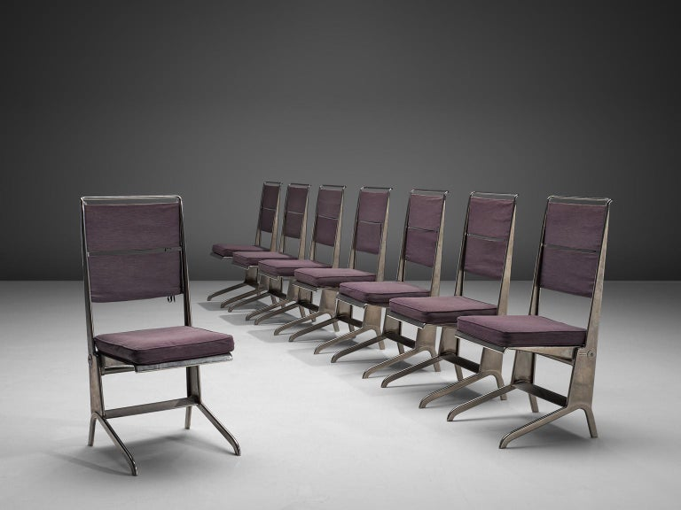 French Jean Prouvé Rare Set of Reclining Chairs For Sale