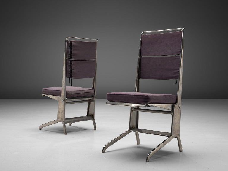 Jean Prouvé Rare Set of Reclining Chairs In Good Condition For Sale In Waalwijk, NL