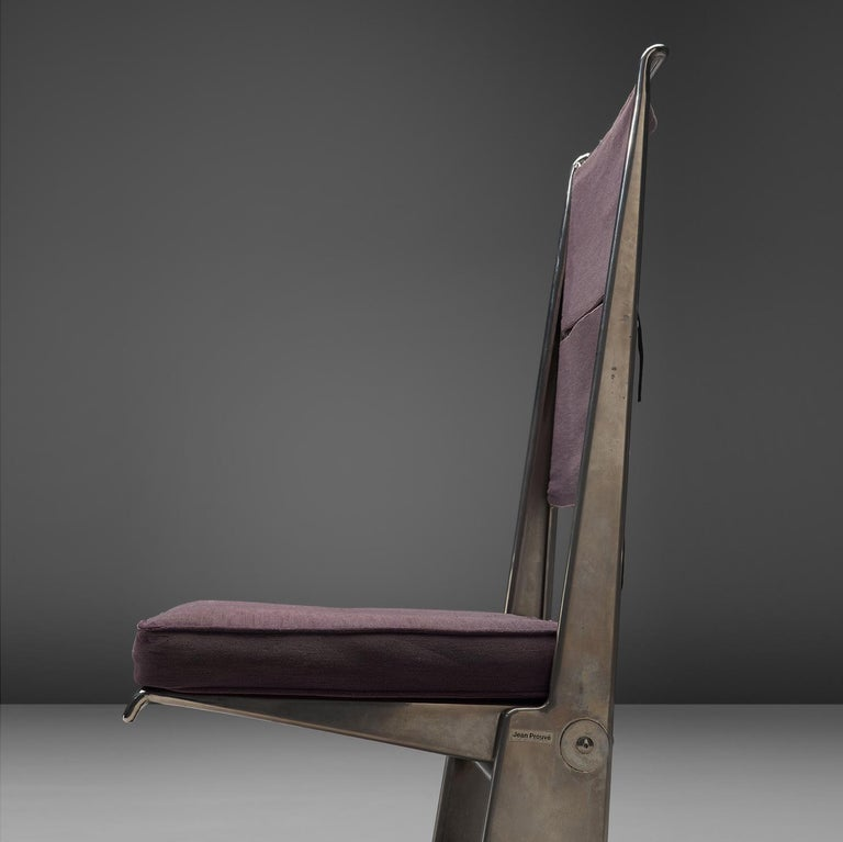 Late 20th Century Jean Prouvé Rare Set of Reclining Chairs For Sale