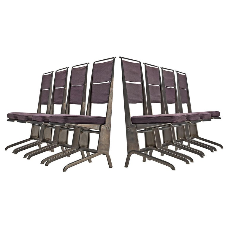 Jean Prouvé Rare Set of Reclining Chairs For Sale