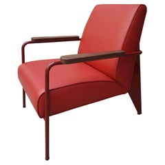 Jean Prouvé Red Lounge Armchair