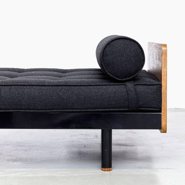 Jean Prouve Mid Century Modern Metal Black SCAL French Daybed, circa 1950 For Sale 5