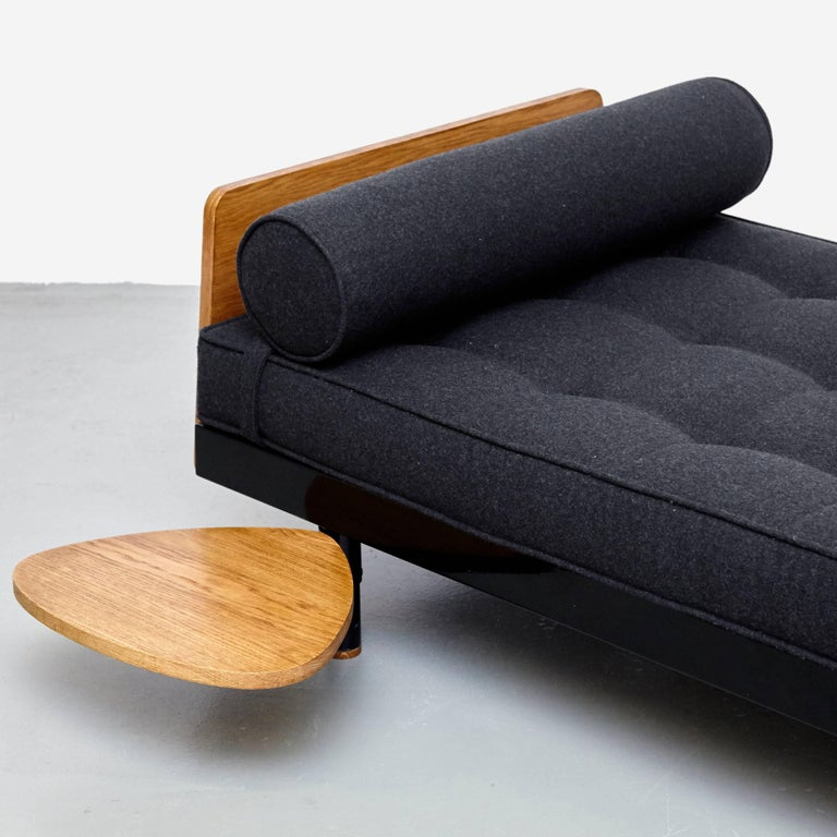 Mid-20th Century Jean Prouve Mid Century Modern Metal Black SCAL French Daybed, circa 1950 For Sale