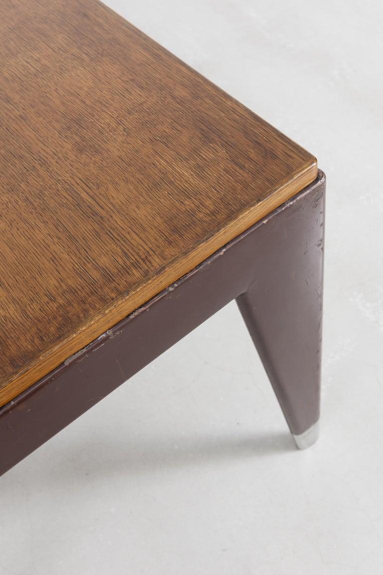 French Jean Prouvé, Secrétaire Desk, circa 1950 For Sale