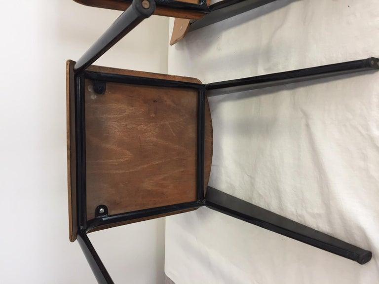 Jean Prouvé Semi-Metal No. 305 Chairs Color Black Set of 4 For Sale 5