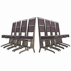 Jean Prouvé Set of Eight Reclining Chairs