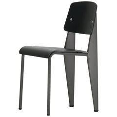 Jean Prouvé Standard Chair SP in Black and Basalt for Vitra