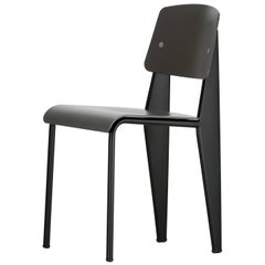 Jean Prouvé Standard Chair SP in Black for Vitra