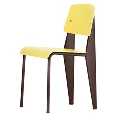 Jean Prouvé Standard Chair SP in Citron and Chocolate for Vitra