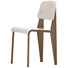 Jean Prouvé Standard Chair SP in Warm Gray and Coffee for Vitra