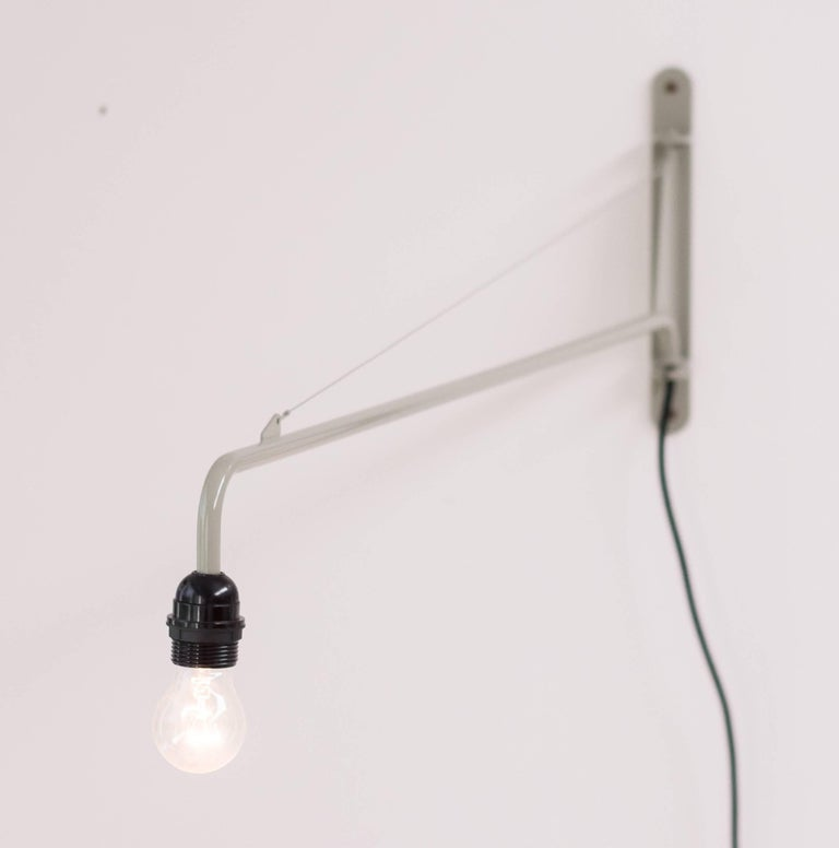 Contemporary Jean Prouvé Swing Jib Wall Light For Sale