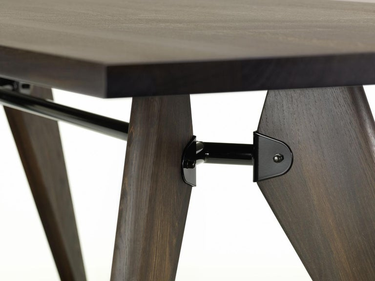 Swiss Jean Prouvé Table Solvay in Wood by Vitra For Sale