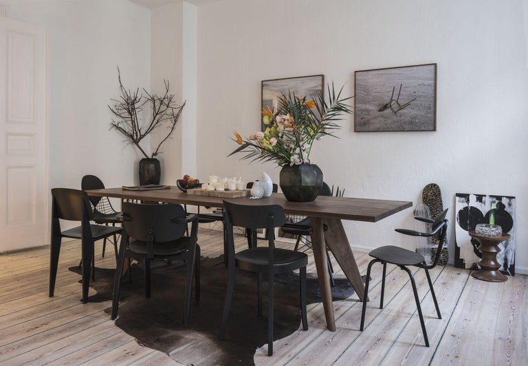 Jean Prouvé Table Solvay in Wood by Vitra In New Condition For Sale In Barcelona, Barcelona