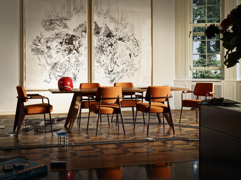 Contemporary Jean Prouvé Table Solvay in Wood by Vitra For Sale