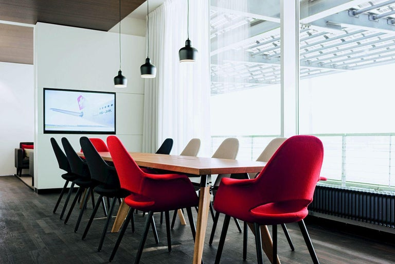 Jean Prouvé Table Solvay in Wood by Vitra For Sale 1