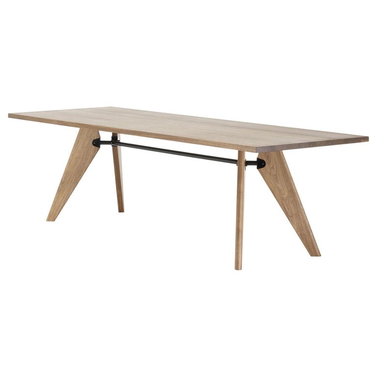 Jean Prouvé Table Solvay in Wood by Vitra For Sale