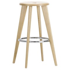 Jean Prouvé Tabouret Haut in Wood and Steel by Vitra
