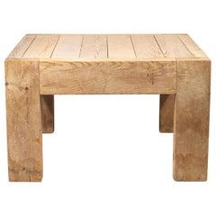Jean Prouvé with Guy Rey-Millet, Coffee Table, Wood, Refuge de la Vanoise