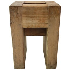 Jean Prouvé with Guy Rey-Millet, Set of 15 Stools, Wood, Refuge de la Vanoise