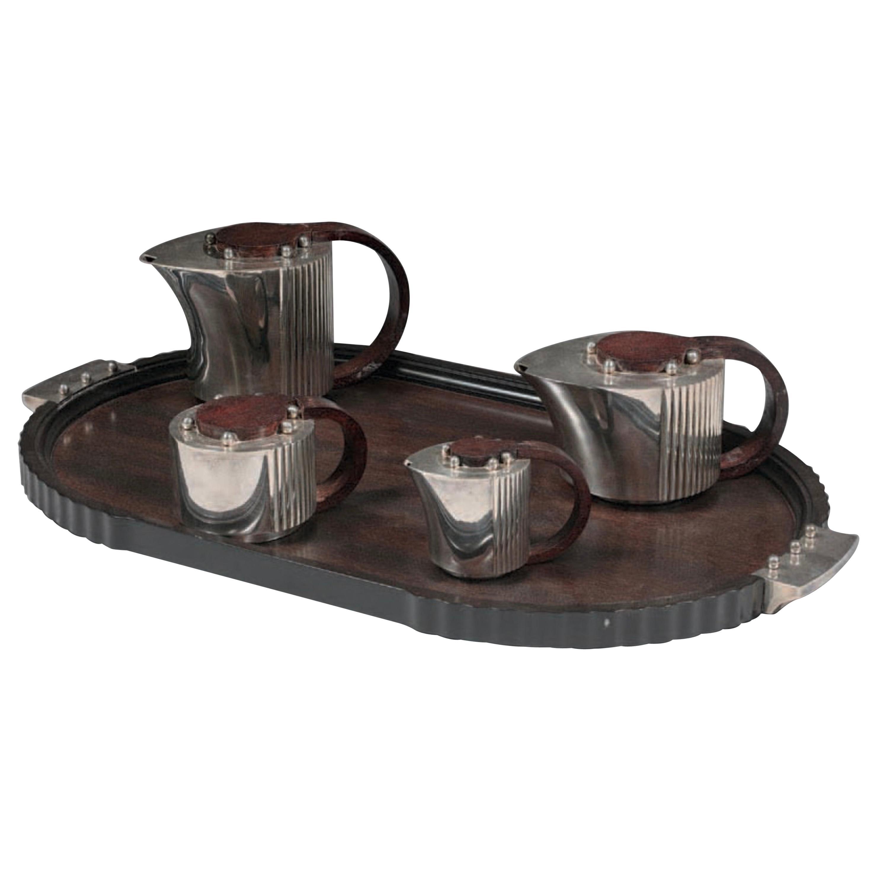 Jean Puiforcat Silver Plated Tea Set