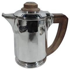 Jean Puiforcat Super Stylish French Art Deco Silver Coffeepot
