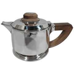 Jean Puiforcat Super Stylish French Art Deco Silver Teapot