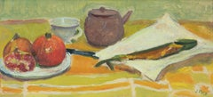 Still Life with Fish and Fruit with a Tea Pot and Cup by Jean Puy - Fauvism