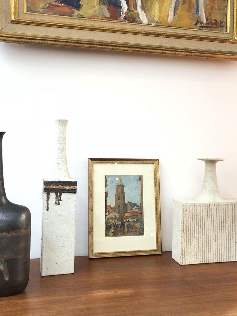 'Belgian Market Square' by Jean-René Nys, Saint-Amand Church, Mouscron, Belgian For Sale 3