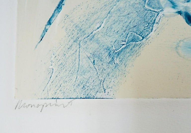Monoprint Painting Abstract Wild Horses Western Art Jean Richardson American For Sale 2
