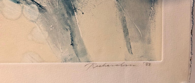 Monoprint Painting Abstract Wild Horses Western Art Jean Richardson American For Sale 4