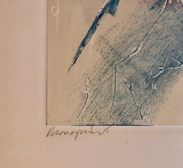 Monoprint Painting Abstract Wild Horses Western Art Jean Richardson American For Sale 5