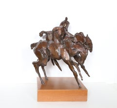 Gemini, Bronze Horse Sculpture by Jean Richardson