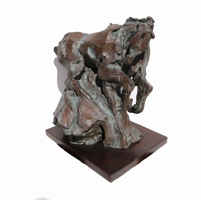 Artist: Jean Richardson, American (1940 -  ) Title: Genesis Year: 1989 Medium:Bronze Sculpture, signature and numbering inscribed Edition: 50 Size: 16 x 15.5 x 12 inches Base: 1.5 x 14 x 11 inches