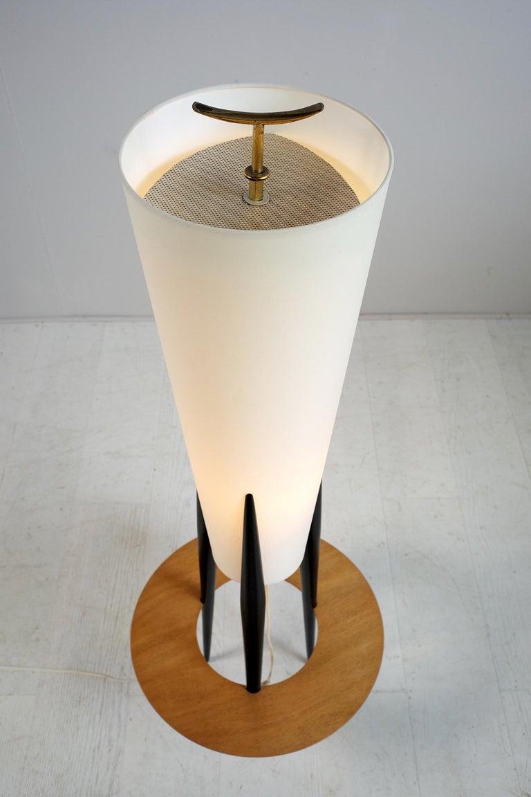 Mid-Century Modern Jean Rispal, Japanese Tripod Floor Lamp, France, 1950 For Sale